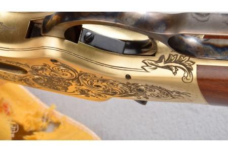 """HEGE Uberti 1866 Yellowboy 150th Anniversary Engraved .45LC 20"""""""