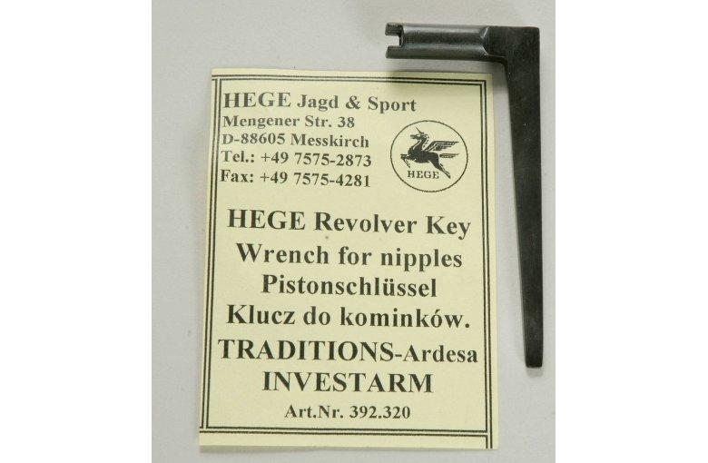 Pistonschlüsselin 5,3mm L-Form ( Tradition-Ard, Investarm) aus