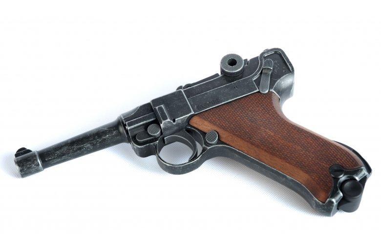 Luger ME P08 Schreckschuss Pistole Antik-Finish 9mmP.A.K