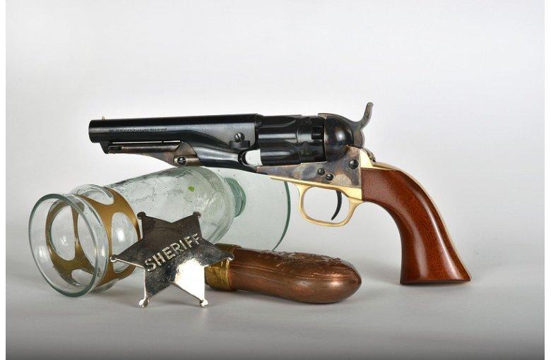 Police 1862,.36, 4,5 aus a.Revolver offener Rahmen bei Waffen