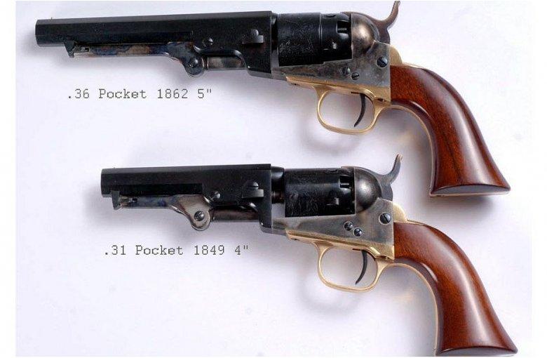 Vorderlader Revolver Pocket 1849 4 aus a.Revolver offener