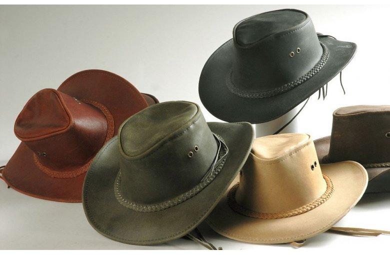 Westernhut echt Leder braun aus LEDER - BESONDERHEITEN bei