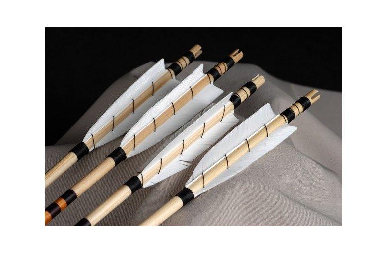 539.469 tradycyjne strzały drewniane do luków WRAPPED