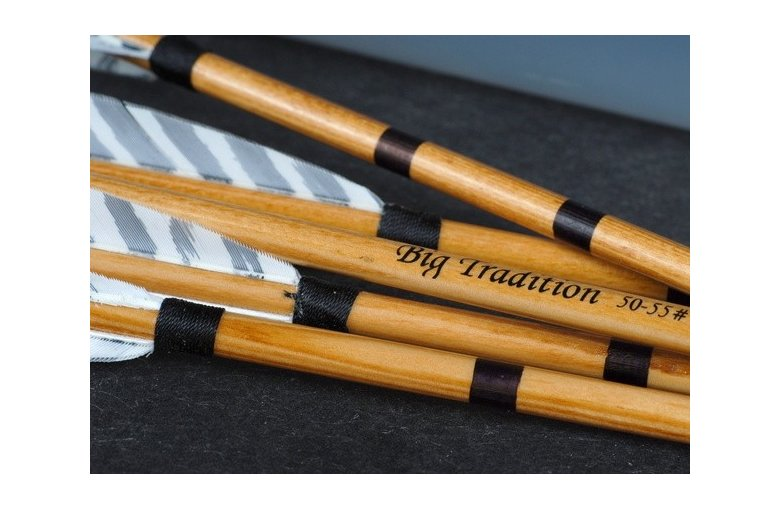 539.513 Traditionelle Holzpfeile mit Naturfeder – BARRED