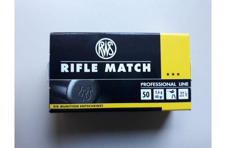 .22lr RWS Rifle Match aus d. KK-Munition bei Waffen HEGE kaufen