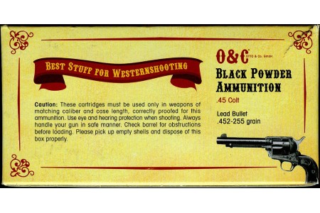 450.200 CAS Patronen Black Powder (Lead Bullet) .45LC, .44-40