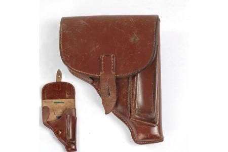 470.107 Pistolenholster VOPO, rotbraun für Walther PP