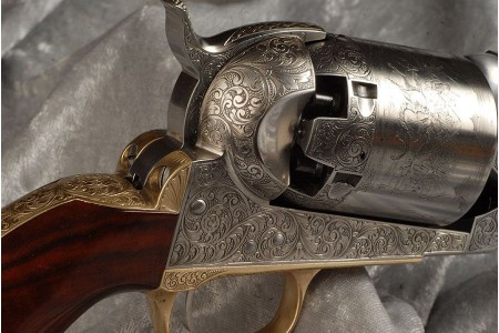 300.304 COLT DRAGOON CIVILIAN - full Hand engraved
