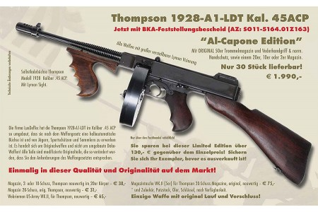 THOMPSON 1928A1-LTD SL-Büchse AL Capone Edition